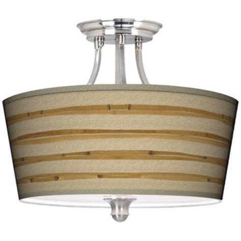 Bamboo Wrap Tapered Drum Giclee Ceiling Light M1074 Bamboo Ceiling Lights