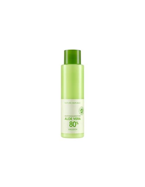 Nature Republic Soothing Moisture Aloe Vera 80 Emulsion Review nature republic soothing moisutre aloe vera 80