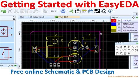 create a blueprint free getting started with easyeda free schematic pcb design software
