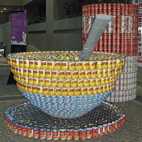 canned food sculpture ideas cans of soup food sculptures pinterest soups and