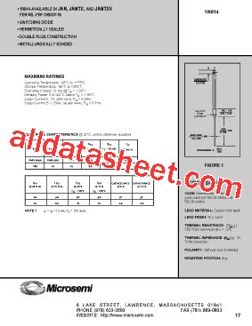 1n914 diode datasheet pdf 1n914 datasheet pdf microsemi corporation