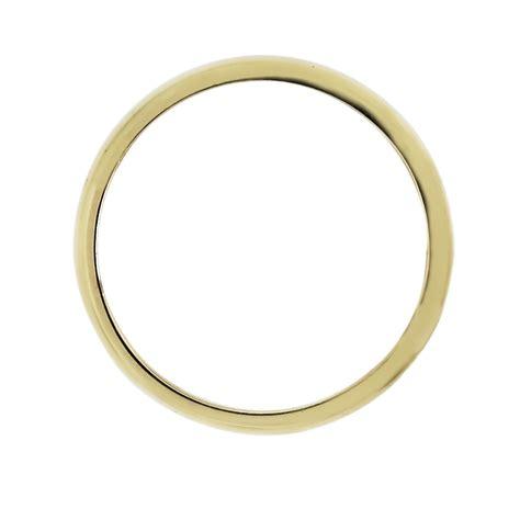 14k yellow gold thin unisex wedding band ring