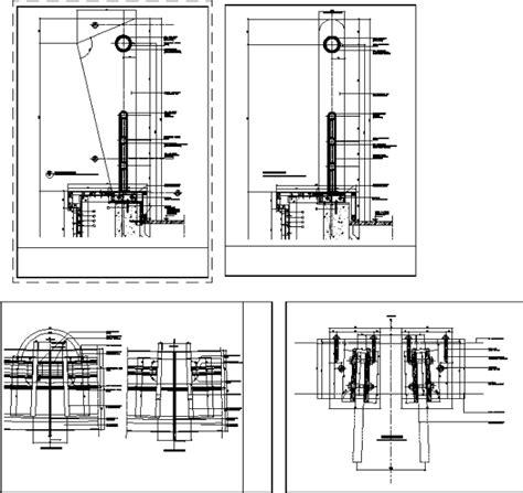 barandilla vidrio dwg detalles de barandas en autocad descargar cad 1 29 mb