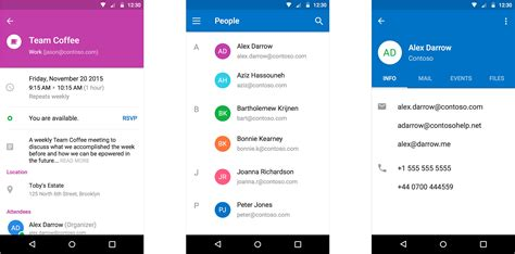 outlook mobile app android outlook for ios and android gains momentum gets new look