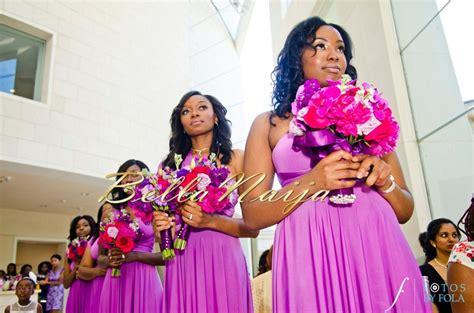 bellanaija briadsmaids bella naija blue bridal train wedding dress collections