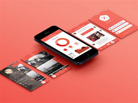 ui layout mockup 15 mobile app mockups freecreatives