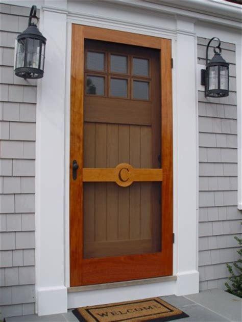 Free Screen Door by Custom Wooden Screen Doors 171 Seaport Shutter