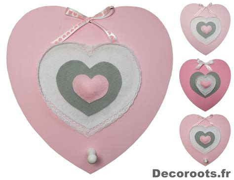 porte manteau chambre fille d 233 coration murale fille porte manteau trois cœurs roses et