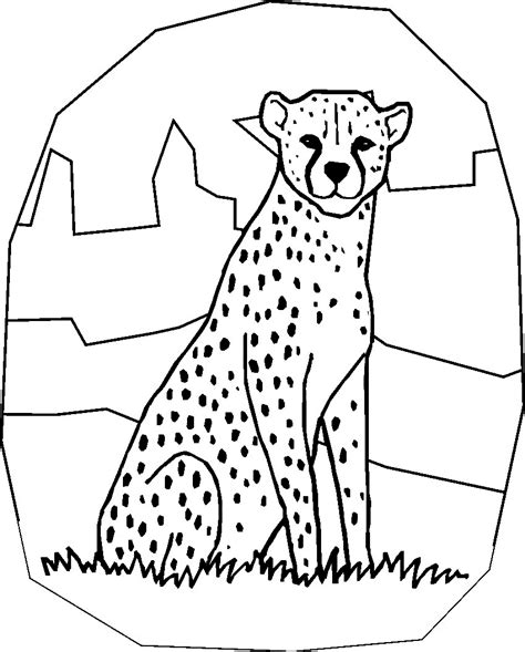 coloring book pages cheetah free printable cheetah coloring pages for kids