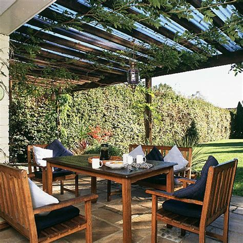 backyard dining garden dining area outdoor furniture landscape design