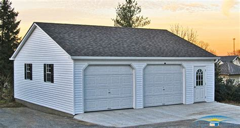 Two Car Garage With Carport by 2 Car Prefab Garages Prefab Two Car Garage Horizon