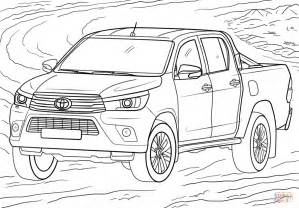 page toyota toyota hilux coloring page free printable coloring pages