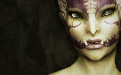 skyrim orc female face skyrim nexus mods and community