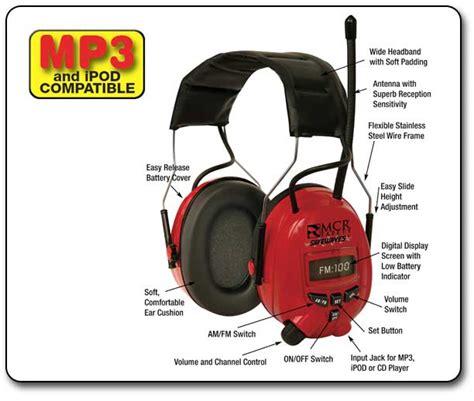 Ear Protection Mcr Safety C7007mp3 Safewaves Noise