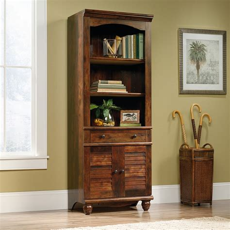 72 inch cherry brown bookcase with doors rc willey