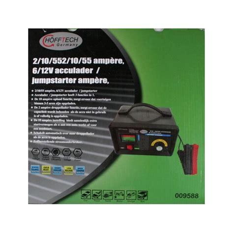 Adaptorpowersuply 10 A 12 Volt hofftech acculader 6 12volt 10a met jumpstart 69 00