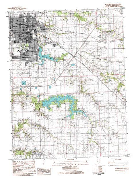 printable jacksonville maps jacksonville topographic map il usgs topo quad 39090f2