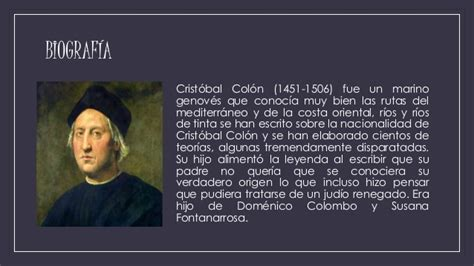 biografia cristobal colon resumen crist 243 bal col 243 n