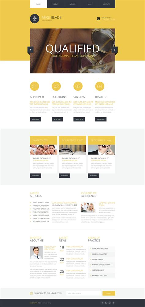 responsive website templates for photoshop lawyer responsive website template 51333 by wt website