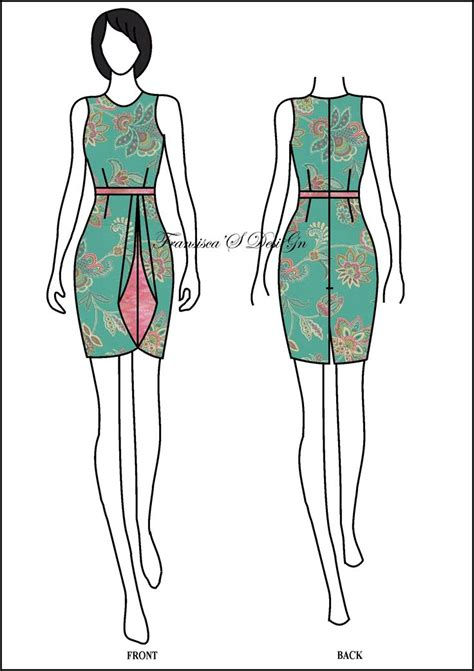 sketsa desain dress batik 20 best batik heritage images on pinterest batik fashion