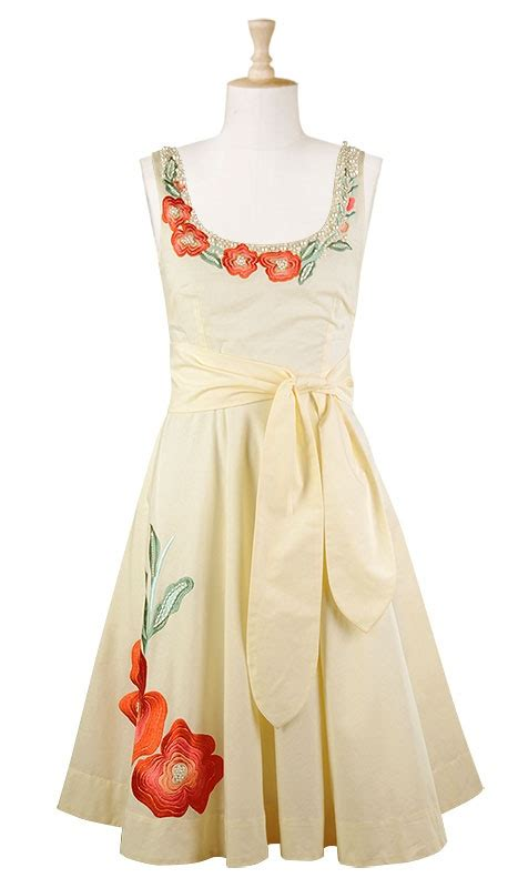 Wst 9046 Embroidered Flower Dress White Sale 84 best embroidery dresses images on
