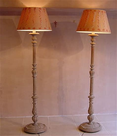 Painted Wooden Chairs Pair Of Standard Lamps Antique Lighting