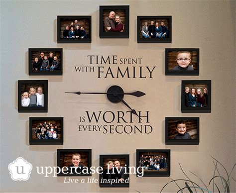 how to hang family photos on the wall wonderful diy family photo wall clock