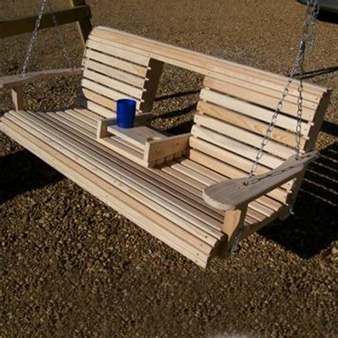 wooden bench swing kits unwind in your yard with a diy wood porch swing with cup