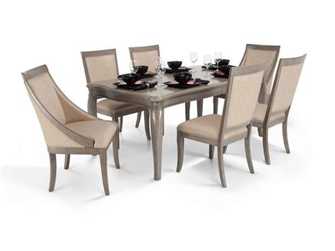 bobs furniture dining room sets gatsby 7 piece dining set with side chairs swoop chairs
