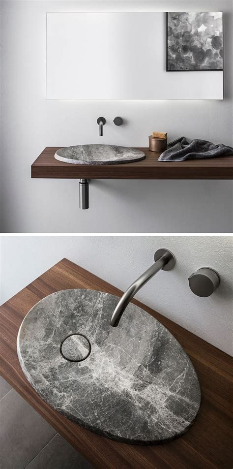 rock sinks bathroom the design of this natural stone sink is inspired by the