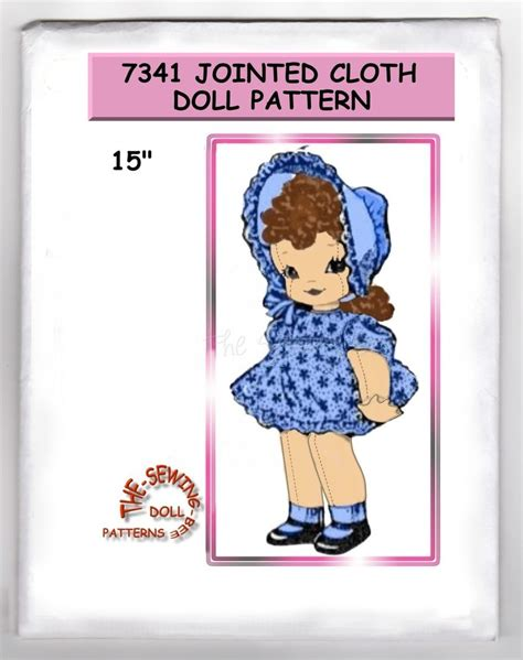 jointed doll clothes patterns 7341 jointed rag cloth doll pattern 15 quot vintage ebay