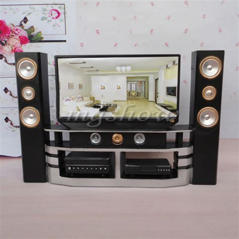 dollhouse furniture living room accessories tv theatre set
