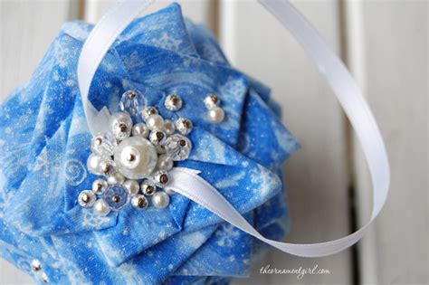 pinecone ornament pattern folded fabric pine cone