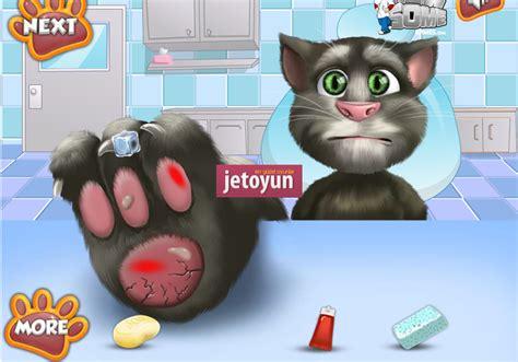konusan kedi tom ayak doktorunda oyunu oyna kedi oyunlari