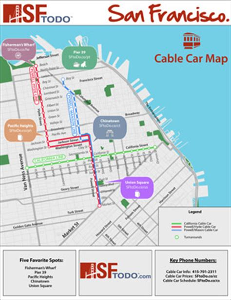 san francisco trolley map pdf san francisco cable car guide map