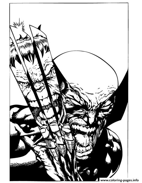men wolverine fights incredible hulk coloring pages