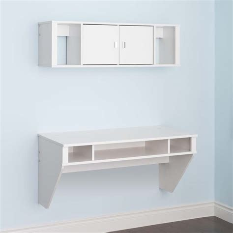 prepac wall mounted floating desk prepac designer wall mounted floating desk and hutch set