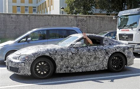 toyota new supra new 2018 toyota supra makes spyshot debut coupe prototype