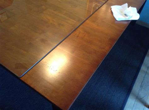 Cleaning Wood Kitchen Table We Put A Glass Top On Our Wooden Kitchen Table Cataldo