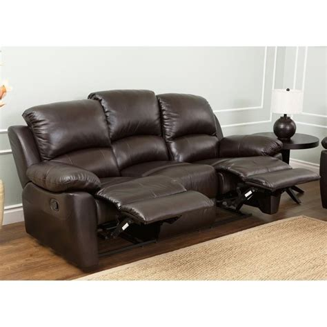 Abbyson Living Bella Leather Reclining Sofa In Espresso Espresso Reclining Sofa