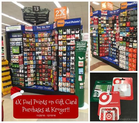 Kroger Gift Card Selection - earn 4x fuel points on gift card purchases at kroger for a limited time stretching