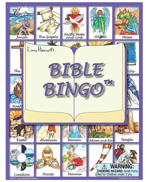 Free Printable Books Of The Bible Bingo Cards