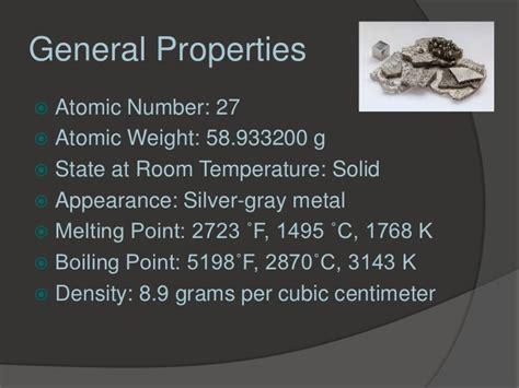 aluminum state at room temperature cobalt johnson