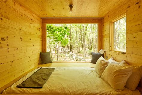 tiny house getaway test drive a mini cabin in rural new york inhabitat spends the night in a harvard designed getaway