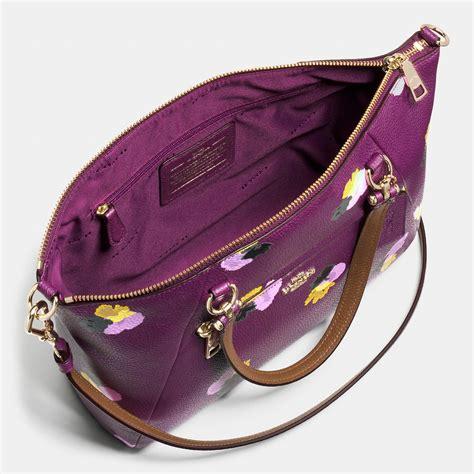 Coach Flowery coach crossbody bag purple flowers coach wholesale