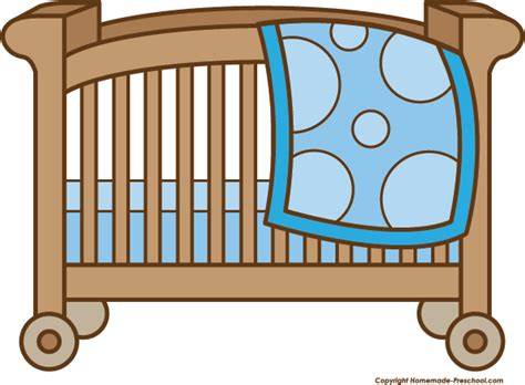 Crib Clipart by Baby Shower Clipart
