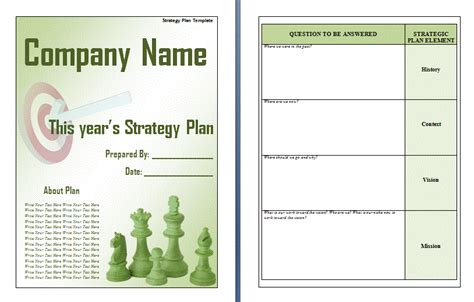 strategic plan word template plan templates free word s templates