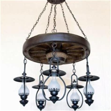 wagon wheel ceiling fan light copper canyon durango wagon wheel 5 light lantern chandelier