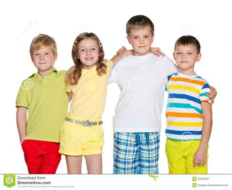 Floor Plan For Preschool Friendship Of Four Children Royalty Free Stock Photography