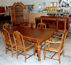 restored 1920 039 s walnut dining room set ebay new arrival 1930 s depression era dining room set sold